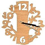 Laserò - Relojes de Pared de Madera - Diseño Ultra Moderno y Original - Relojes de Pared Hechos a Mano con Materiales de Calidad - Ideales para Cocina, salón y Dormitorio - Idea Regalo Creativo