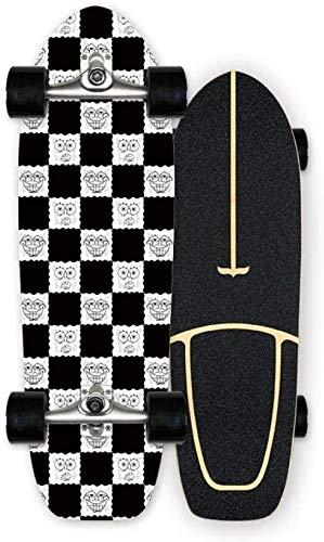 WSND FZWAI Skateboard Kinder Adult vierrädrigen Skateboard Plus Maple Brush Street Travel Doppel-Warping-Profi Skateboard (Color : C)