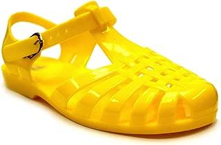 Women's Angel-Low Fisherman T-Strap Jelly Flat Sandals