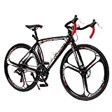 PanAme 26 Inches Road Bike Dual Disc Brake 700c High-Performence Wheels Commuter...