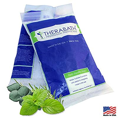 Therabath Paraffin Wax Refill - Use To Relieve Arthritis Pain and Stiff Muscles - Deeply Hydrates and Protects – 24 1-lb Bags Eucalyptus Rosemary Mint
