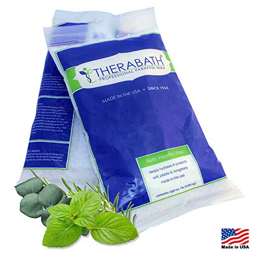 Therabath Paraffin Wax Refill - Use To Relieve Arthritis Pain and Stiff Muscles - Deeply Hydrates and Protects - 6lbs Eucalyptus Rosemary Mint
