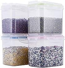 Nfudishpu Storage Box Plastic Transparent Grain Storage Container Kitchen Refrigerator Food Nut Sealing Moisture-Proof Sto...