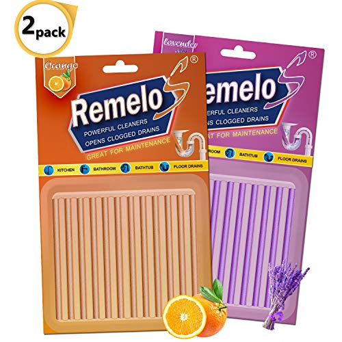 Drain Cleaner Sticks,Clean Batonnet Deodorizer 24 P. Non-Toxic for Kitchen Bathroom Sinks Pipes Septic Tank Safe Drain Sticks As Seen On TV,Deodorizer Prevents Clogged Drains (Orange + Lavender)