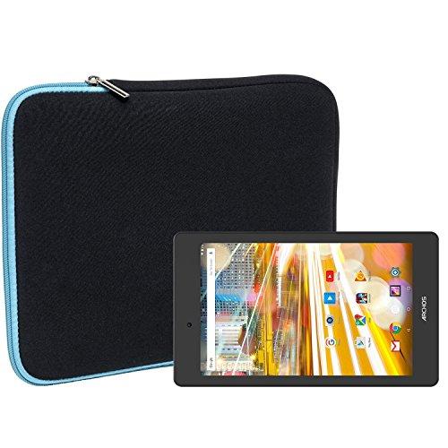 Slabo Tablet Tasche Schutzhülle für Archos 70 Oxygen Hülle Etui Case Phablet aus Neopren – TÜRKIS/SCHWARZ