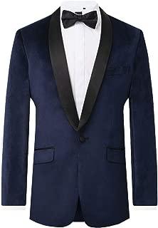 navy blue velvet blazer