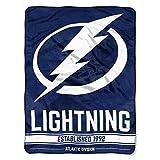 The Northwest Company NHL Tampa Bay Lightning 'Break Away' Micro Raschel Throw Blanket, 46' x 60' , Blue