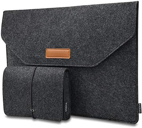VIVIEN'S 12 Zoll Laptoptasche (Designed in Germany) mit extra Tasche aus Filz, Ideales Sleeve für 12
