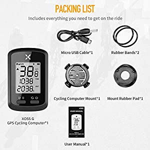 XOSS G GPS Ciclismo Ordenador Inalámbrico Bicicleta Velocímetro Odómetro Ciclismo Rastreador Impermeable Bicicleta de Carretera MTB Bicicleta Bluetooth (G)