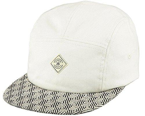 Barts Wasabi Cap Chapeau Fedora, Multicolore (Bianco e visiera Fantasia rigata Bianco e Nero), Fabricant: Taille Unique Homme
