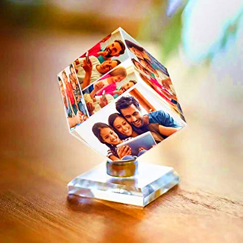 3D crystal photos gift, DIY 3 color photo cubes, record an extraordinary year, as memorable gifts and souvenirs, for classmates / girlfriends / boyfriends and family, 5cm