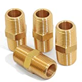 KOOTANS 1/4 NPT x 1/4 NPT Male Solid Brass...