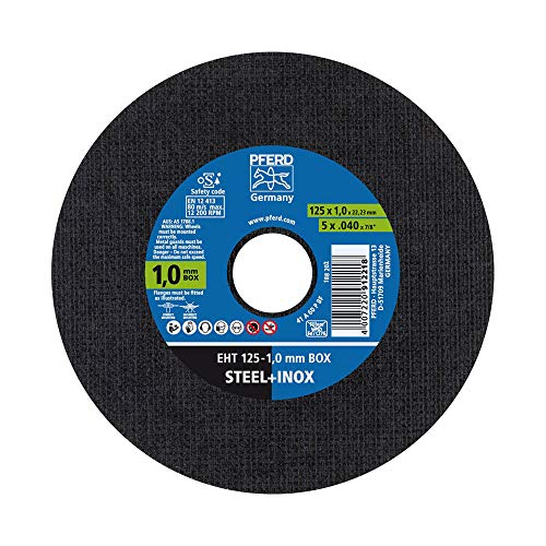 PFERD 69198290 Disco de trennscheibe, Trennscheiben 125 x 1,0 x 22,23 mm