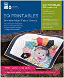 Electric Quilt Company Photo 6pc Printables Inkjet Fabric Sheet, Off-White