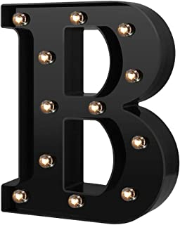 Newly Design Led Letters Numbers Lights 26 Alphabet & Arabic Numerals 0-9 Black Decorative Marquee Lamps for Events Weddin...