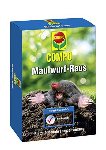 Compo Maulwurf-Raus, Natürliches Vertreibe- und Fernhaltemittel gegen Maulwürfe mit Langzeitwirkung, 100 g