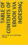 Table of Contents of mobi via InDesing: Create the mobi TOC from InDesing (English Edition)