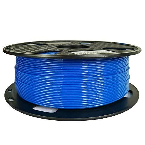 Filamento PETG azul de fácil impresión, 1,75 mm, 1 kg, filamento de impresión 3D, carrete de 2,3...