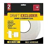 Home Window Door Draft Excluder 4.5 Metre Rolls Foam Insulation Weather Strip Seal