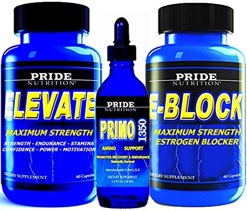 #1 Muscle Building Stack - Anabolic Strength, Growth & Recovery Support with Estrogen Blocker - 3 Bottles - Best Lean Muscle Mass Building Stack (Level 2 with Strength 1350)