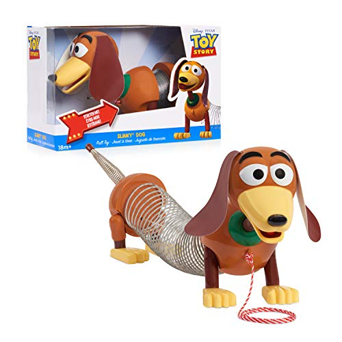 Disney•Pixar's Toy Story Slinky Dog Pull Toy, Walking Spring Toy for Boys and Girls, by Just Play