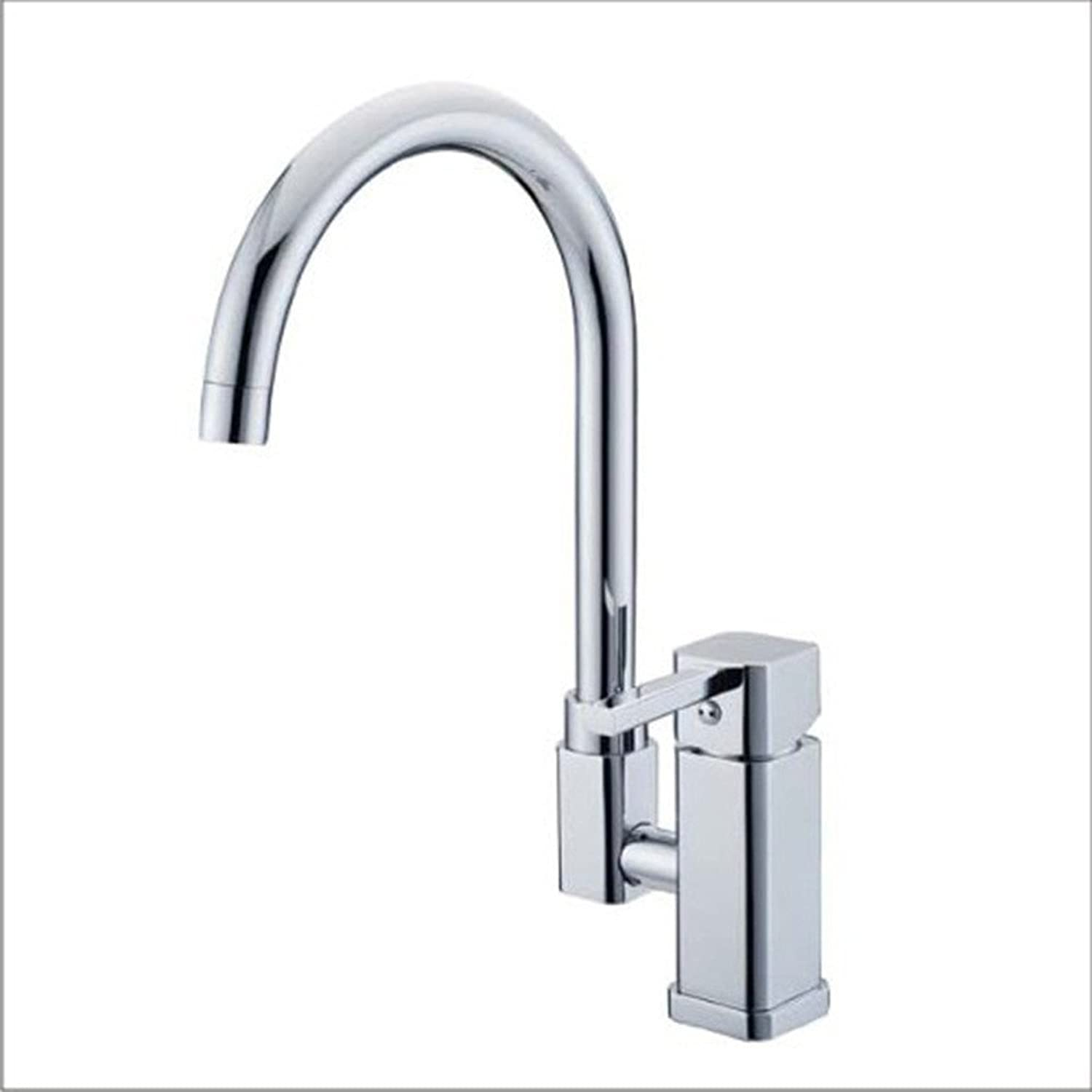 Commercial Single Lever Pull Down Kitchen Sink Faucet Brass Constructed Polished Hot and Cold Mixed Water Kitchen Sink Basin Mixer