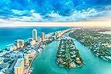 Miami Skyline Stadt Meer XXL Wandbild Kunstdruck Foto