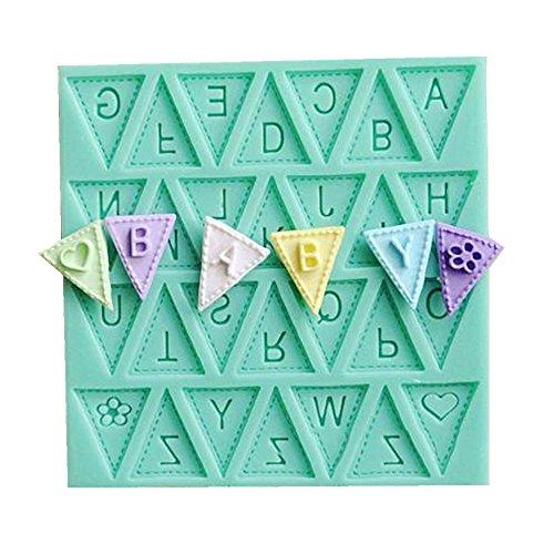 Affe bandera forma 26Inglés letras Cake Molde silicona