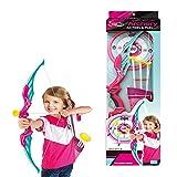 Foxom Arco y Flechas Niños, Set Tiro con Arco con 3 Ventosa Flechas, 1 Arco, 1 Carcaj y 1 Objetivo, Niño 6 Años+