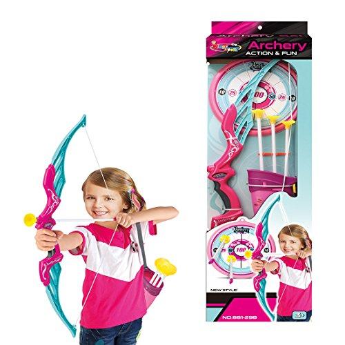 ANNA SHOP Pfeil und Bogen Kinder Set Schießen Spielzeug Schießspiele Set ab 6 Jahre, Soft Sucker Arrow mit Halter