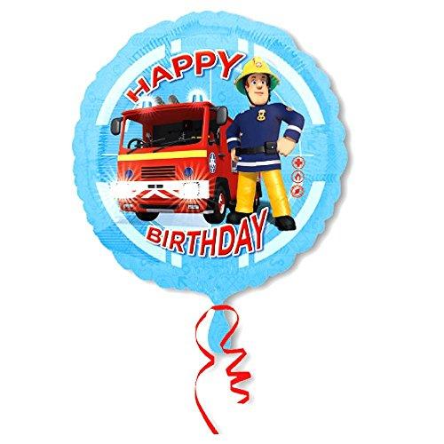Feuerwehrmann Sam Happy Birthday 45 cm Folien Ballon | Party Geburtstag