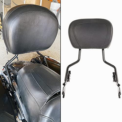 ECOTRIC Adjustable DetachSissy Bar Backrest W Leather pad For Harley TouringStreet Glide FLHX FLHR 2009-2020
