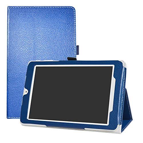 "LFDZ Alcatel OneTouch Pixi 3 8 3G Custodia, Slim Ultra Pelle Sottile e Leggera Cover Case Custodia per 8"" Alcatel OneTouch Pixi 3 8 3G Tablet,Azzurro"