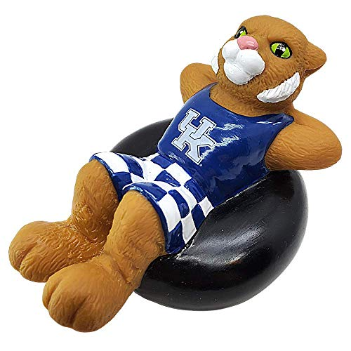 Rubber Tubbers University of Kentucky - Premium Bath Toy Collectible Sports Memorabilia - First Ever Collectible Line of Licensed Floating Collegiate Mascots (Kentucky Wildcats | Wildcat)