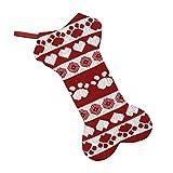 Medias Navideñas para Perros, BETOY Calcetines Navideños Grandes con Diseño de Hueso de Perro, Calcetines Navideños Bolsas de Regalo para Colgar, Adornos Navideños para Chimenea, Árbol de Navidad