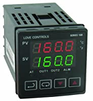 Dwyer Love Series 16B 1/16 DIN Temperature and Process Controller, Voltage Pulse Output 1 and Relay Output 2 by Dwyer