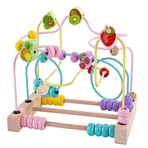 Yjdr Les Grands Fruits Perles garçons et Filles Perles Jouets éducatifs for Enfants Early Education Jouets for Enfants