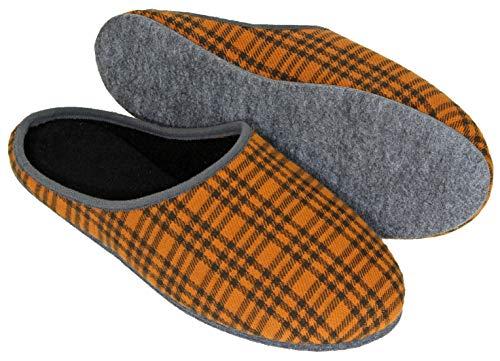 Kamelhaar Pantoffeln - Filzsohle 43