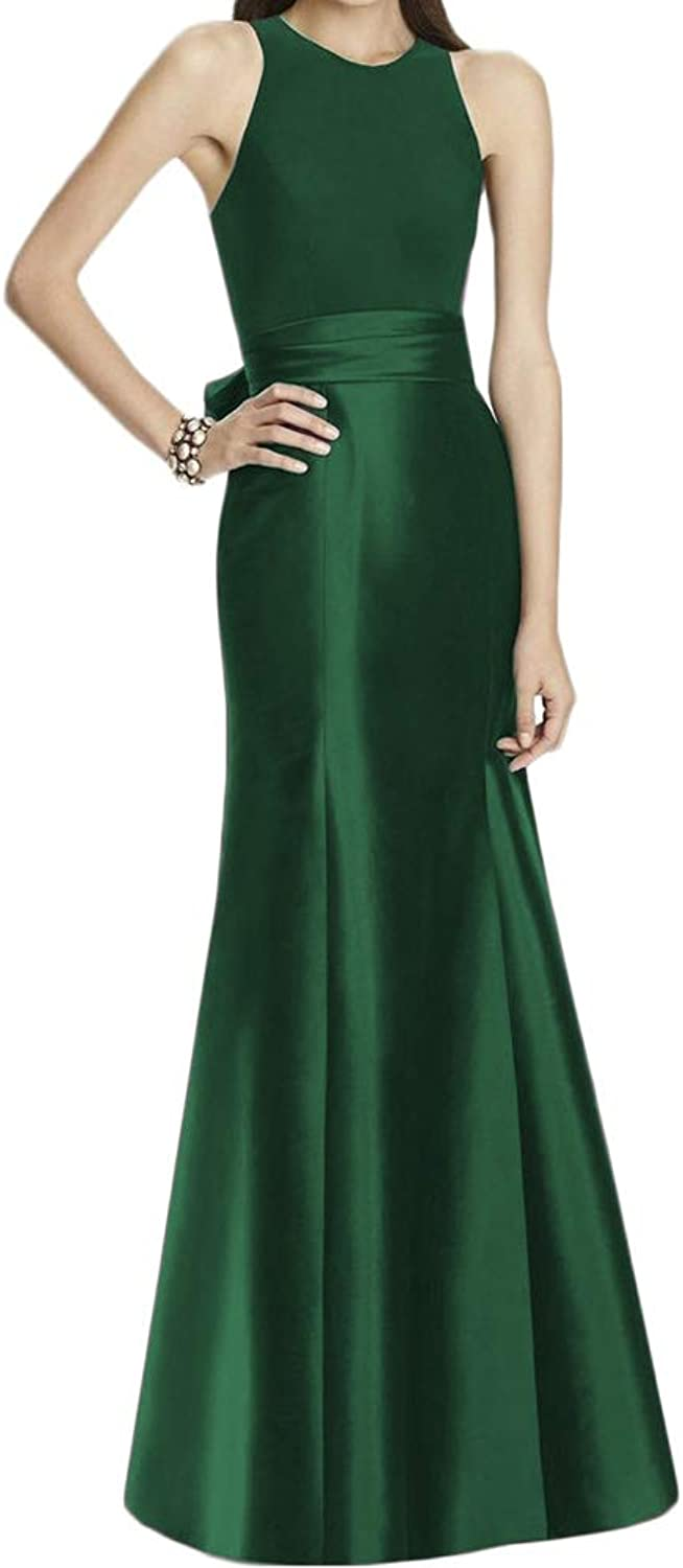 LiBridal Women's Sexy Mermaid Formal Evening Dresses,Long Satin Prom Homecoming Gowns