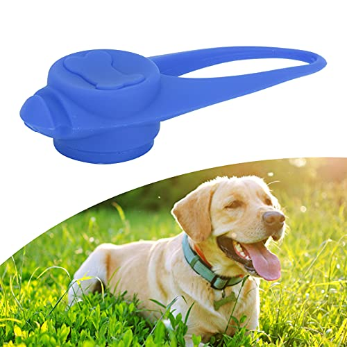 jadenzhou Luz para Collar de Mascota, luz de Silicona para Caminar de Noche para Perros, luz para Collar de Mascota, luz Colgante con Clip para Caminar de Noche(Azul)