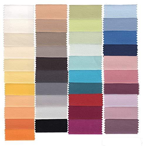 Estella Mako Jersey Spannbettlaken in 41 Farben 90 - 100x200 cm