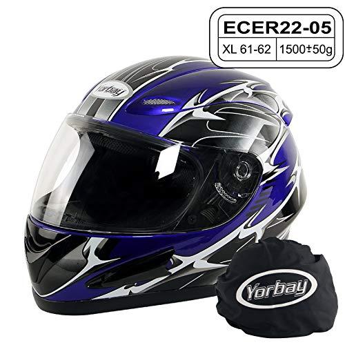 Yorbay Motorradhelm Integralhelm Sturzhelm Helm mit verschienden Typen & in unterschiedlichen...