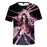 LcuFreoz Demon Slayer Anime T-Shirt Nezuko Graphic Print Short Sleeve Youth Tees Tops,Multicolored1,M