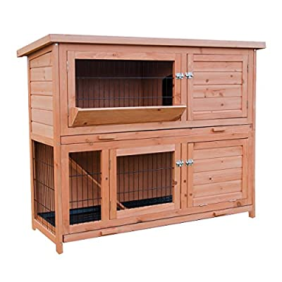KCT Large Wooden Rabbit Hutch with enclosed run from KCT