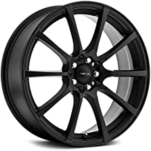 Focal 448SB F-20 Satin Black with Satin Clear-Coat Wheel with Painted Finish (17 x 8. inches /5 x 100 mm, 42 mm Offset)