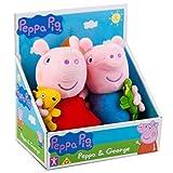 Peppa Pig George con Dinosaurio y Peppa con Peluche Suave de Peluche de Juguete