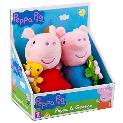 Character Options Peppa Pig George mit Dinosaurier & Peppa mit Teddy Soft Plüschspielzeug Set