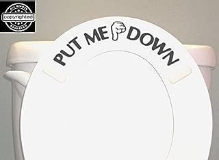 BERRYZILLA Put ME Down Decal Toilet Bathroom Seat Vinyl Sticker Sign Reminder for Him