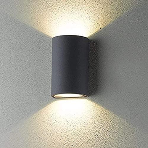 FDABFU Lámpara de Pared Impermeable al Aire Libre LED Up Down Spotlight Lámpara de Pared Exterior Exterior Blanco cálido 3000K Aluminio Luces de jardín Estilo Moderno Decorativo Li