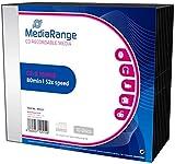 MediaRange MR205 CD en Blanco CD-R 700 MB 10 Pieza(s) - CD-RW vírgenes (CD-R, 700 MB, 10 Pieza(s), 120 mm, 80 min, 52x)